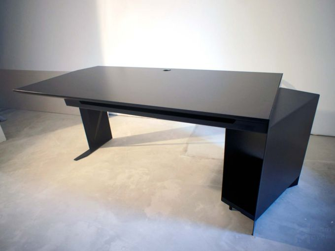 Bureau noir mat bureau metal noir très bon noir furniture desk